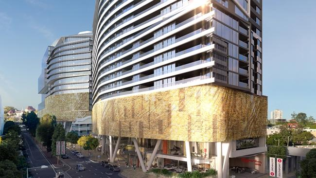 An artist's impression of Brisbane's South Point development that Union bought last year. Source: Supplied