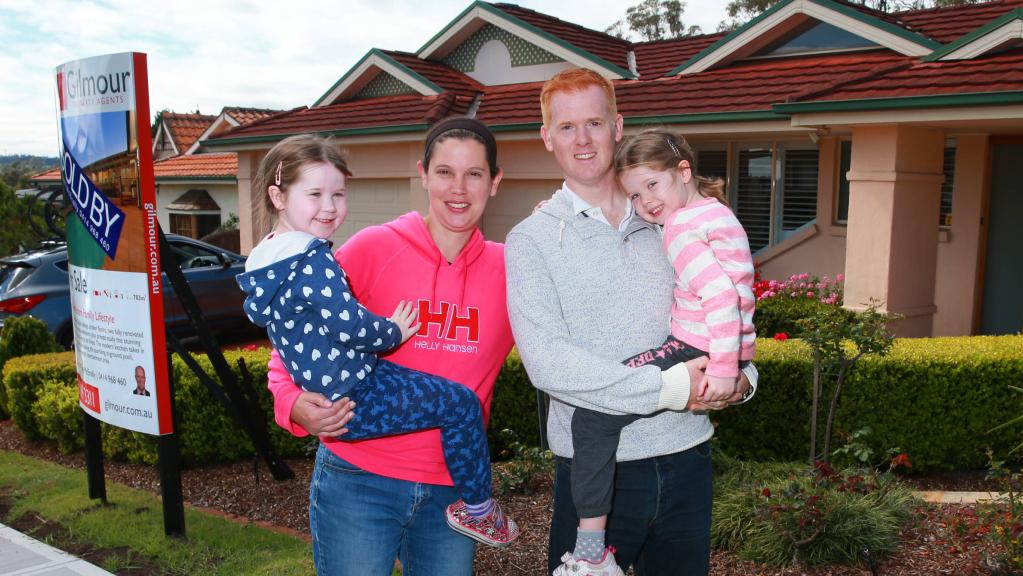 Rob and Susan Shaw with daughters Libby and Pipa have sold their Castle Hill home in Sydney and are moving to the inner-city riverside suburb Bulimba in Brisbane.