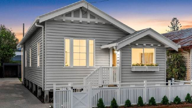 This three bedroom house at 9 Pine St_ Wynnum_ is up for auction.