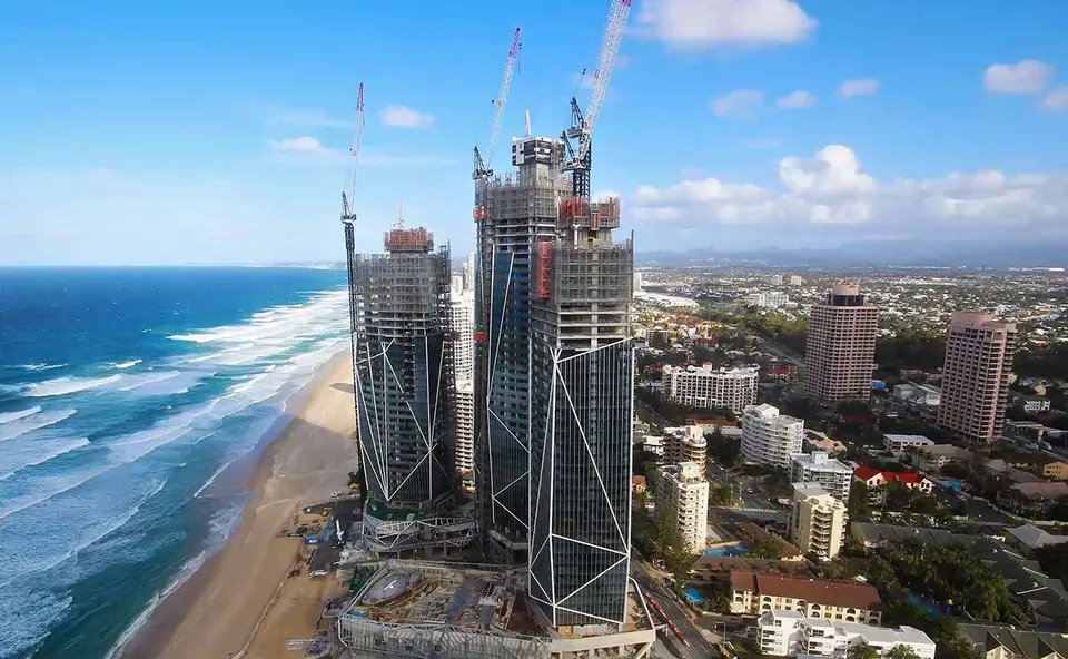 Crane Spotting Gold Coast Cranes Rise as Brisbane Sees Decline.-min