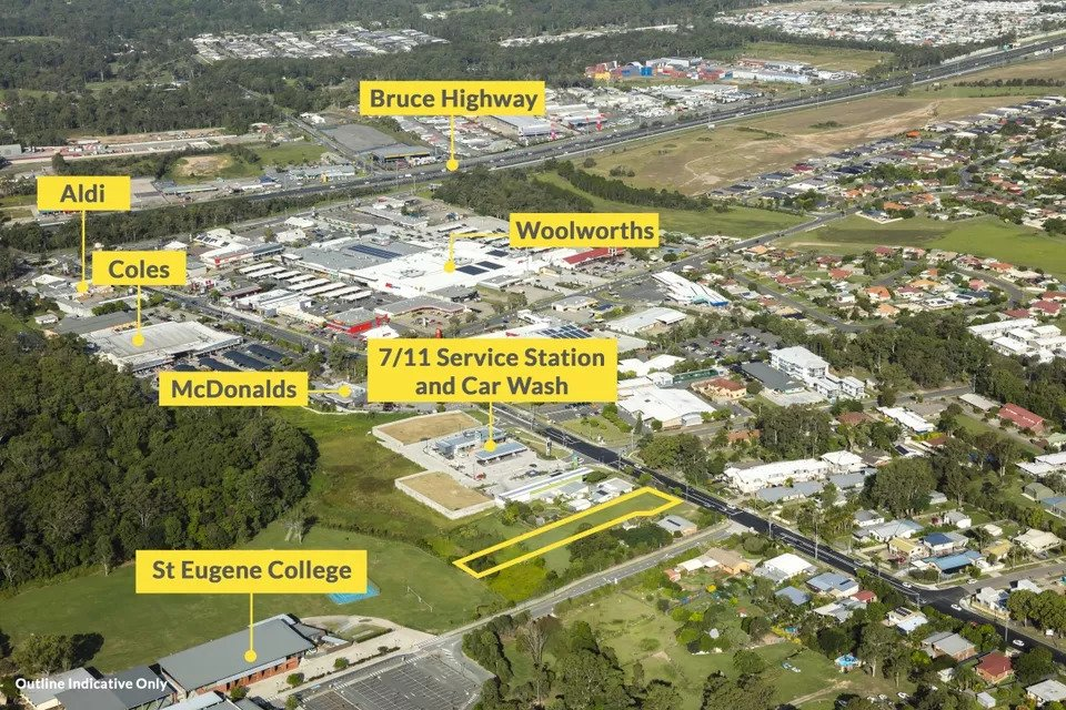 "Expressions of interest are being sought for the 3,295sq m site at 144 Station Road, Burpengary. The asset has district centre zoning that allows for multiple uses. The site is marketed by Ray White Special Projects Queensland's Andrew Burke and Matthew Fritzsche. Burke said the asset offered multiple opportunities that included childcare, commercial, retail and medium-density residential. ""The site is in the middle of the Burpengary retail precinct with neighbours like 7-Eleven, McDonalds, Aldi, Coles, Woolworths, World Gym, Kmart and many more,"" he said. ""With easy access to the Bruce Highway, you would be 40 minutes north of Brisbane and just 30 minutes south of Sunshine Coast. ""The site is offered clear and mostly level and is within walking distance of retail and schools with the nearby Burpengary rail station serviced by the Caboolture Line."""