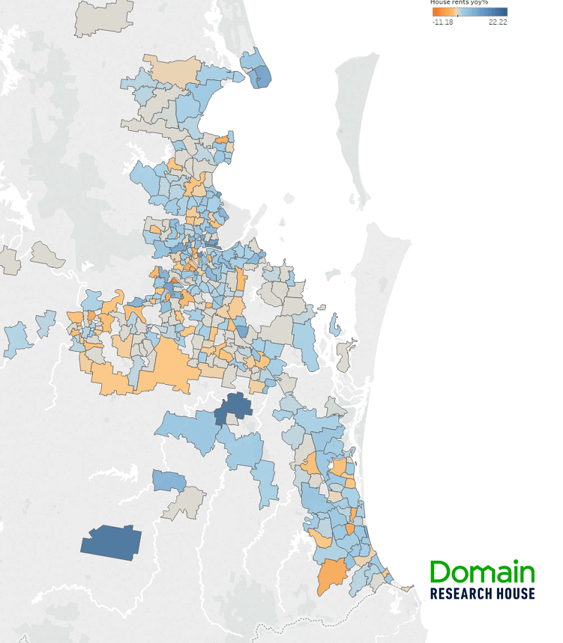 The Brisbane suburbs where rent prices have increased most 1