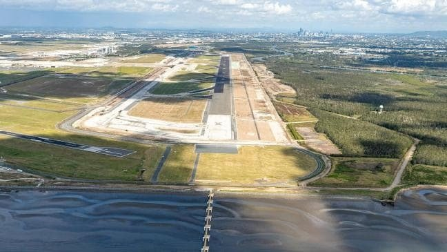 Brisbane Airport's new runway months away from being finished 4