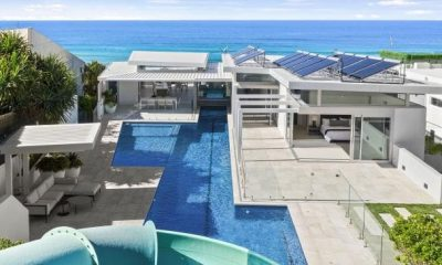 Luxury beachfront home with epic waterslide could be yours