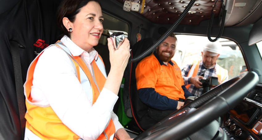 Palaszczuk's plan for 'freight freeway' from NQ to NSW border